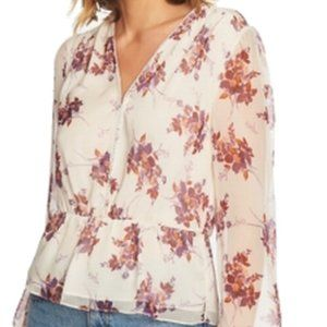 1. State Small  Floral Print Peplum Blouse $89 NEW